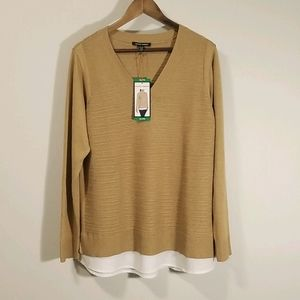 Hilary and Radley Ribbed V-neck Sweater